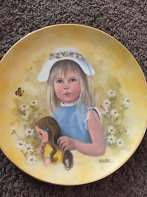 """royal collection little women collecters plate. """"Sing A Song Of Spring"""""""