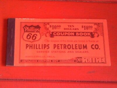 Scarce Old Coupon Book Phillips 66 Petroleum Oil Co. Bartlesville Oklahoma