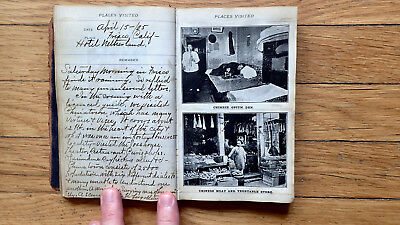 Circa 1905 Handwritten Travel Diary Fantastic Trip By Rail Across The Us 75 Pp
