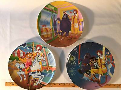 MCDONALDS  1993 Carnival Plastic Plates 3 Plates Ronald And Friends McDonald's