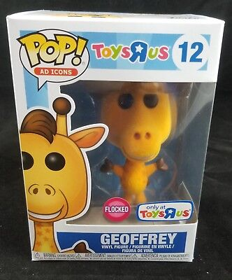 Funko Pop Ad Icons #12 Toys R Us Flocked Geoffrey The Giraffe Free Ship