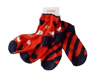 NWT Girl's Gymboree Prep Perfect blue orange striped heart socks small