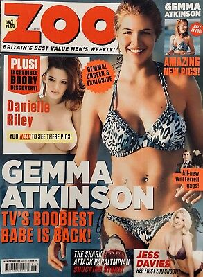 ZOO MAGAZINE 7th-13th SEPT 2012 GEMMA ATKINSON NEW SHOOT! Excellent Condition!