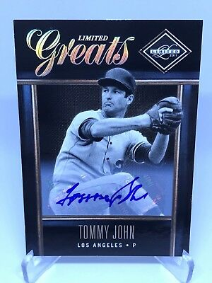 2012 Panini Limited Greats Tommy John Autogramm /299 Los Angeles Dodgers