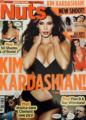 NUTS MAGAZINE 14th-20th SEPTEMBER 2012 KIM KARDASHIAN SHOOT EXCELLENT CONDITION