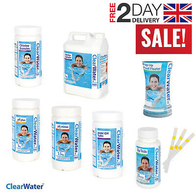 ClearWater Chemicals Chlorine Tablets Granules Swimming Pool Lay-Z-Spa Hot Tub