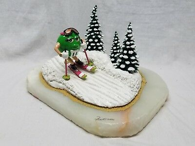 Ron Lee M & M Green Skiing 2006 Statue Figurine World of Clowns Female Candy
