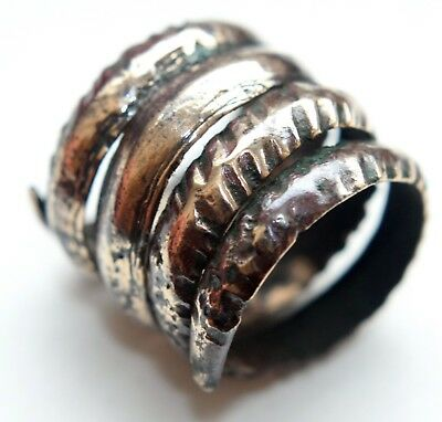 Ancient Old Bronze Spiral Ornament Ring (JUN01)