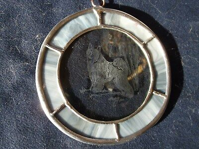 Chinese Crested  - Hand engraved ornament by Ingrid Jonsson.