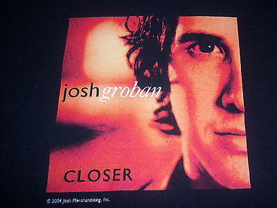 JOSH GROBAN--2004 CLOSER TOUR t shirt--original licensed--(XL)