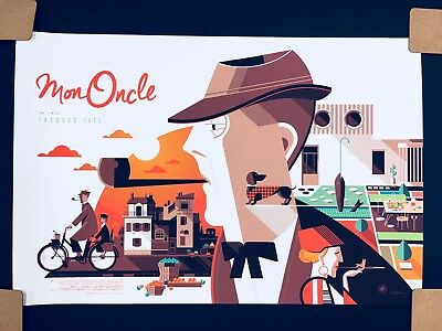 """Mon Oncle Variant by Tom Whalen Artist Proof Screen Print  36""""X 24"""""""