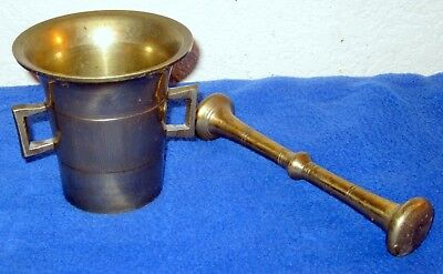Vintage Antique 1800's Solid Bronze Mortar and Pestle Apothecary Pharmacy