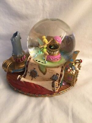 Disney Tinkerbell 'you can fly' musical snow globe treasure chest