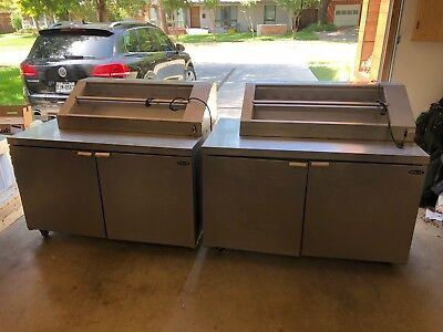 2 USED Norlake Sandwich/Sundae Prep Tables. 1 is freezer, 1 is refrigerator