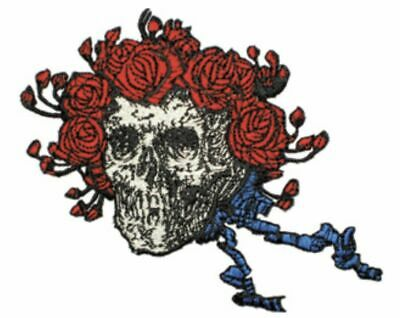 Grateful Dead Skull And Roses Embroidered Patch G027P Jerry Garcia Jimi Hendrix