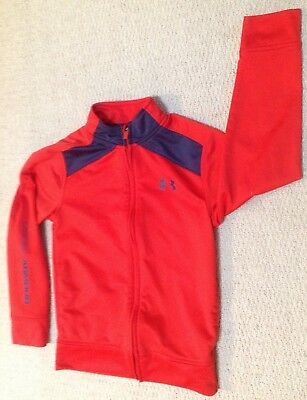 Under Armour Boys Red/Blue Long Sleeve Zip Front Jacket Size 7 EUC!