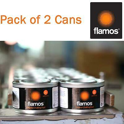 Flamos Ethanol Gel Chafing Dish Fuel Warmer Catering Food Heating Buffet 2 Cans
