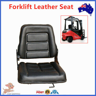Forklift Seat Multi Adjustable Leather Bobcat Tractor Excavator Machinery Leathe