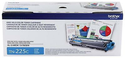 Brother Genuine High Yield Toner Cartridge, TN225C, Replacement Cyan Toner, Page