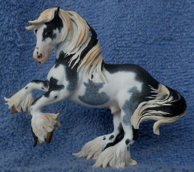 Breyer Custom CM Stablemate Roan Paint Draft By Mile High Studio *Flashy!*