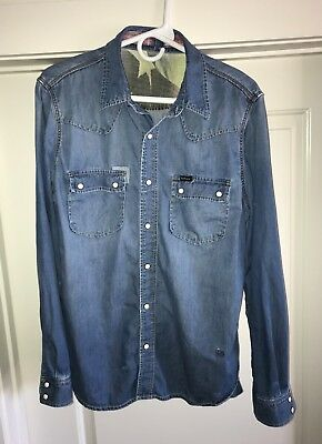 RARE Limited Barbour International Steve McQueen Santana Western Shirt Size UK L