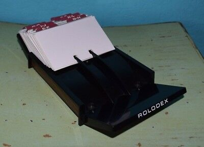 "Rolodex Business Card File Model No. VIP 24 Vintage 1980's 9.75"" Long 4.25"" Wide"