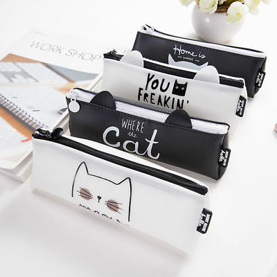 1pc Kawaii Cat Pencil Case Stationery Office & School Supplies Makeup Bags New