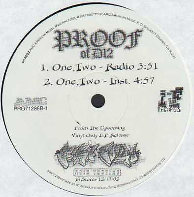 """12"""" Us**proof - One, Two (Iron First Records '02)***9451"""