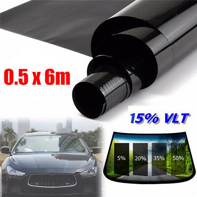 50cm x 6M Glass Window Tint Shade Film VLT 15% Auto Car House Roll Durable & New