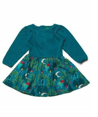 Little Green Radicals Organic Midnight Jungle Peter Pan dress 9 12 18 24 1 2