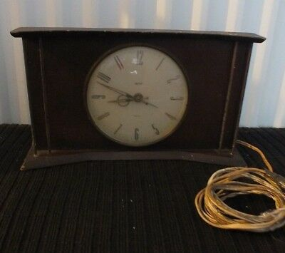 Smiths Art Deco Antique Clock Sectric Mantel untested