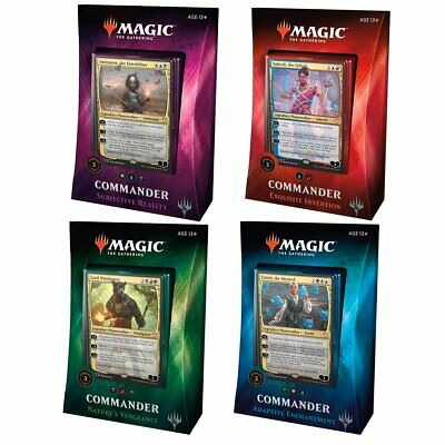 Magic Commander 2018 All 4 Decks Bundle Box