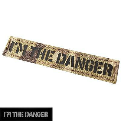 IR 1x5 I am the danger multicam infrared name tag morale hook-and-loop patch