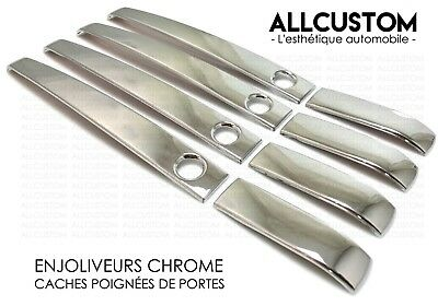 CHROME SIDE EXTERIOR DOOR HANDLE COVERS MOLDING HOUSING for DISCOVERY SPORT 14<