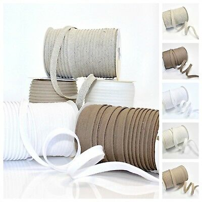 Linen and Cotton Medium Bias Insert Piping 1m 5m 25m roll FREE POSTAGE Flanged