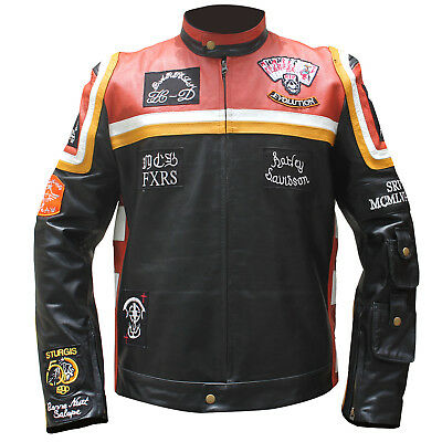 HDMM Mickey Rourke Marlboro Man Vintage Biker Leather Motorcycle Racing Jacket