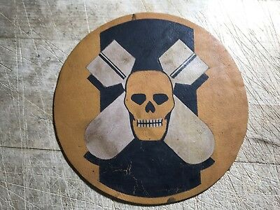 WWII WW2 US ARMY AIR FORCE PATCH-527th Bombardment Squadron-ORIGINAL LEATHER!