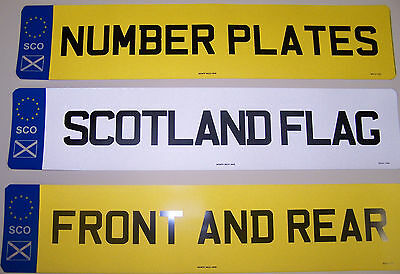 Car Number Plates 1 Pair  Registration Plates Complete With Scotland Badge