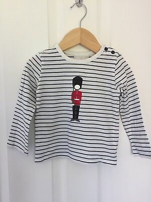 The Little White Company -Long Sleeve T-shirt Age 12-18 months