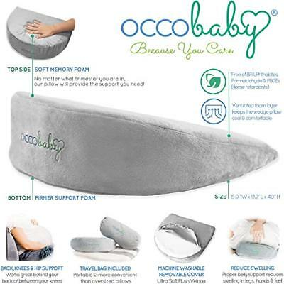 Pregnancy Pillow Wedge | Memory Foam Maternity Pillow for Body, Belly, Knees and