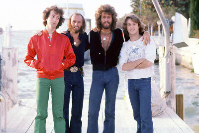 The Bee Gees 24X36 Poster Andy Robin Maurice Barry Gibb On Dock Group Pose