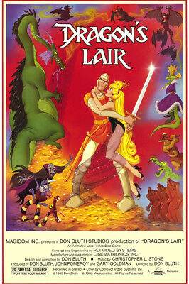 Dragon'S Lair Classic Artwork From Cult Game 24X36 Movie Poster
