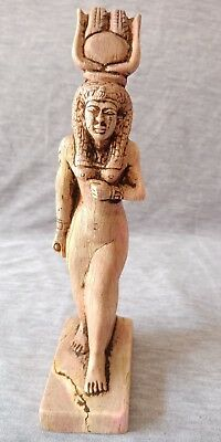 Isis Hathor Ancient Egyptian Antique RARE Statue of Striding Ptolemaic