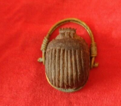 Egyptian royal ring topped with Scarab