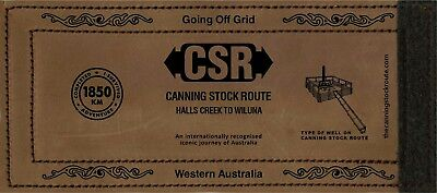 CSR Canning Stock Route WRAP Leather Stubby Holder