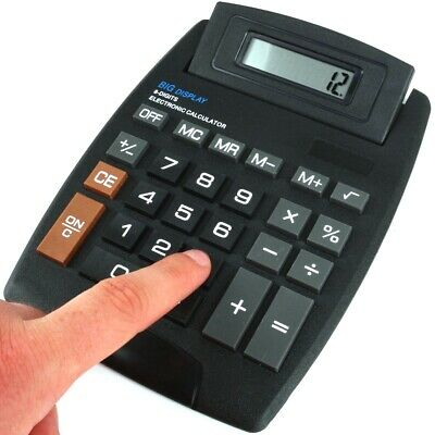 JUMBO DESKTOP CALCULATOR Large Pop Up 8 Digit Electronic Display Office School
