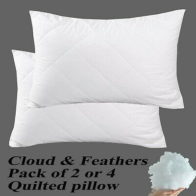 Extra Deep Quilted Pillow Hollow Fiber Filling Comfortable Soft Super Firm Hotel