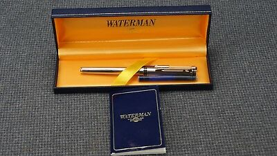 (PP2) Waterman Ideal Chrome Fountain Pen - Made in France With Manual - 18K Nib