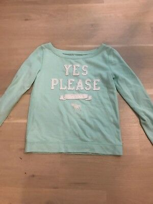Abercrombie Kids Mint Sweatshirt Girls Small