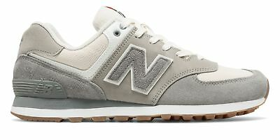 New Balance Men's 574 Retro Sport Shoes Grey with Silver